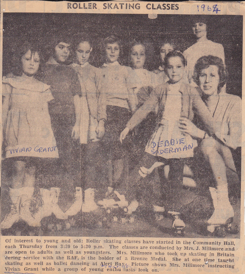 A group of early C.R. Roller Skating club students are featured in this clipping from the C.R. Courier newspaper.